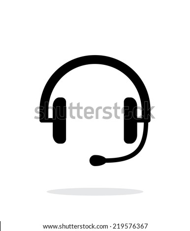 Headset icon on white background. Vector illustration. - stock vector