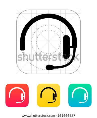 Headset icon. Vector illustration. - stock vector