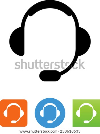 Headset symbol for download. Vector icons for video, mobile apps, Web sites and print projects.  - stock vector