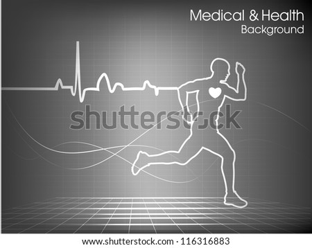 Health and care background. EPS 10. - stock vector