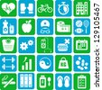 Health and Wellness icons - stock vector