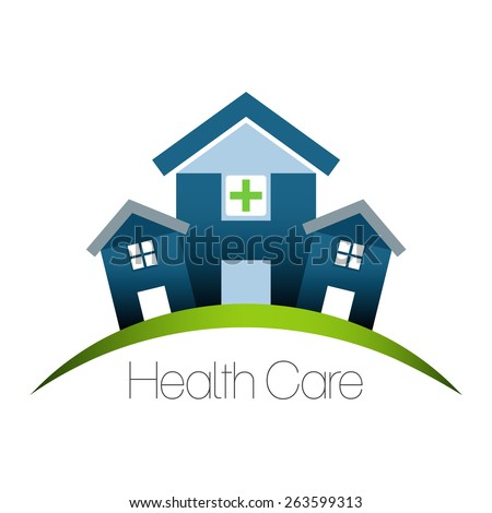 Health care building design. - stock vector