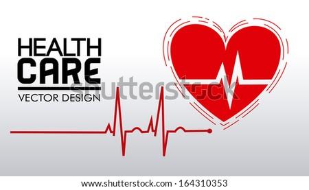 health care design over gray background vector illustration  - stock vector