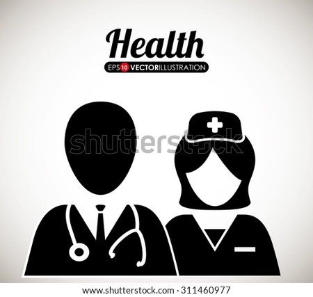 Health care digital design, vector illustration 10 eps graphic - stock vector