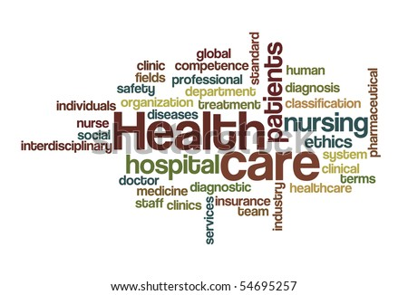 Health care - Word Cloud - stock vector