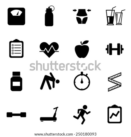 Health Diet Icons Iconset - stock vector