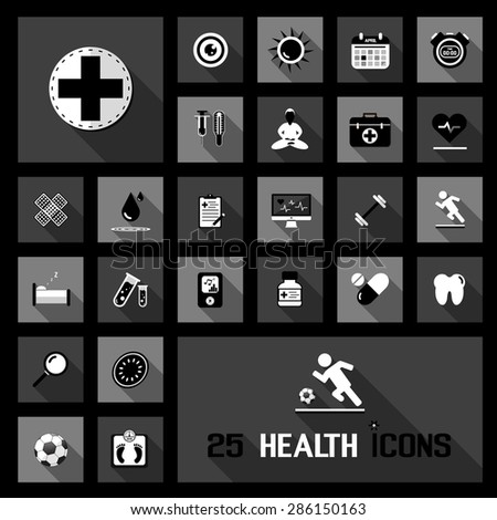 health icons - stock vector
