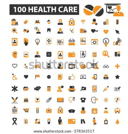 health icons - stock vector