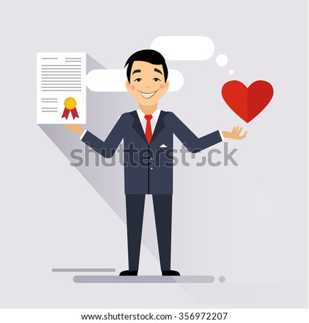 Health Insurance Contract. Colourful Vector Illustration flat style - stock vector