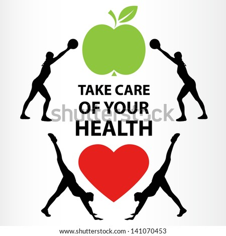 HEALTH LIFESTYLE,HEALTH FOOD,FITNESS,GOOD HEALTH - stock vector