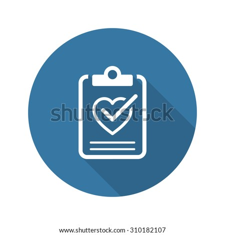Health Tests and Medical Services Icon. Flat Design. Isolated. Long Shadow. - stock vector