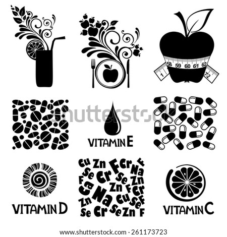 healthy food concept. vector illustration - stock vector