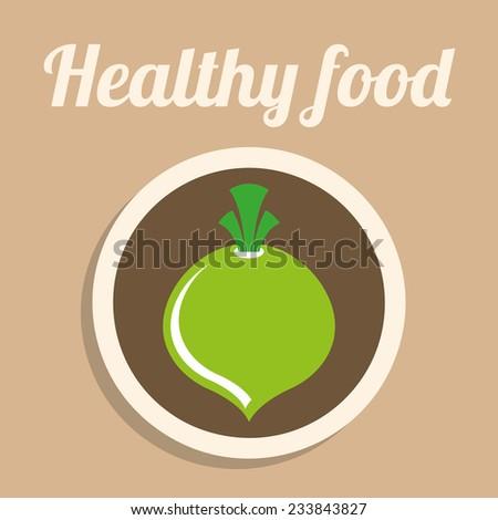 healthy food design , vector illustration - stock vector