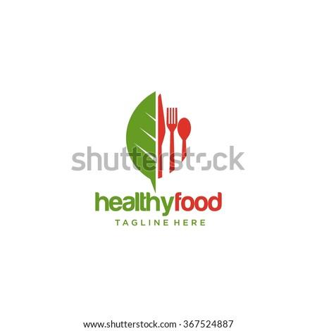 Healthy Food Logo Template  - stock vector