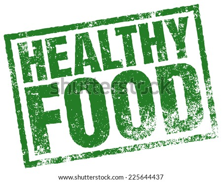 healthy food stamp - stock vector