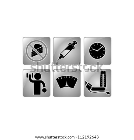Healthy icons - stock vector