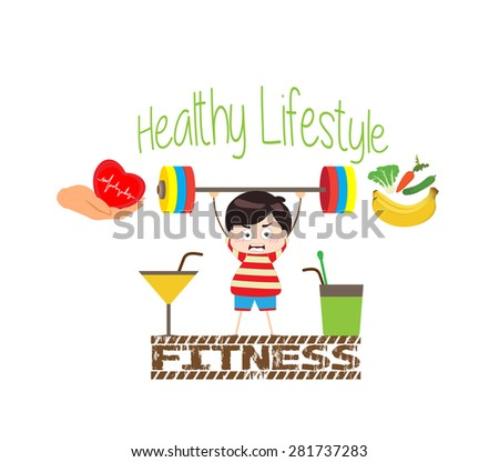 Healthy Lifestyle and Fitness - stock vector