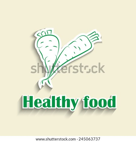 Healthy lifestyle icon in green. Modern style - stock vector
