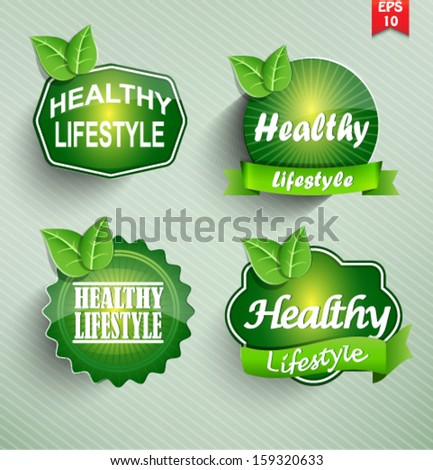 Healthy Lifestyle set. Vector. - stock vector