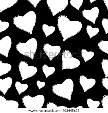 heart and love illustration, grunge style, vector - stock vector
