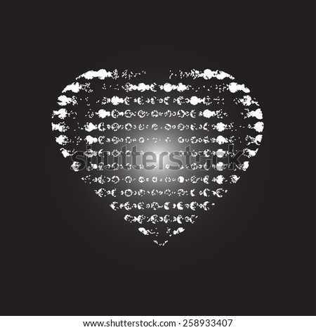 Heart background hotbox                 - stock vector