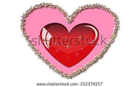 heart background isolated object element romantic figure - stock vector