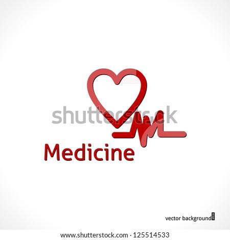 Heart Background. Vector Health Care Design. - stock vector
