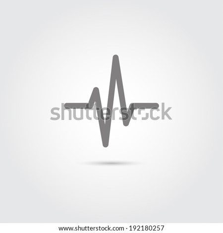 Heart beat, cardiogram,  medical - Vector - stock vector