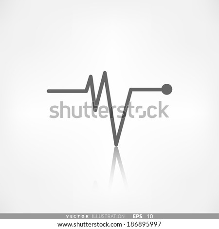 Heart beat, cardiogramm. Pulse icon - stock vector