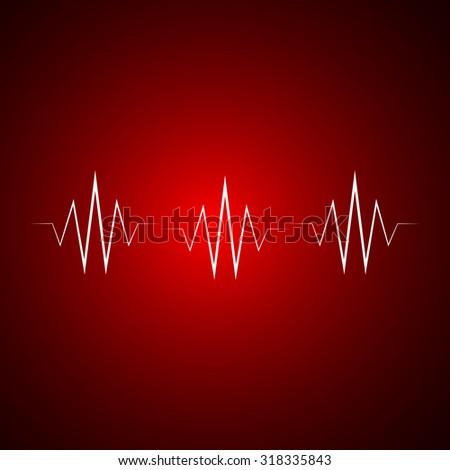 Heart beats cardiogram - Vector - stock vector