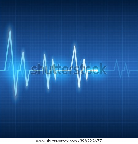 heart beats on health care and medical abstract background vector illustration - stock vector