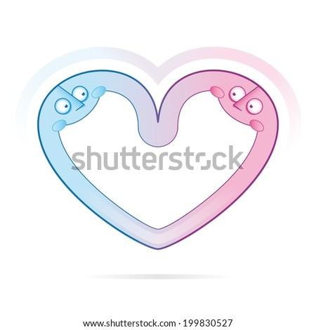heart characters - stock vector