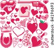 Heart Collection - stock vector