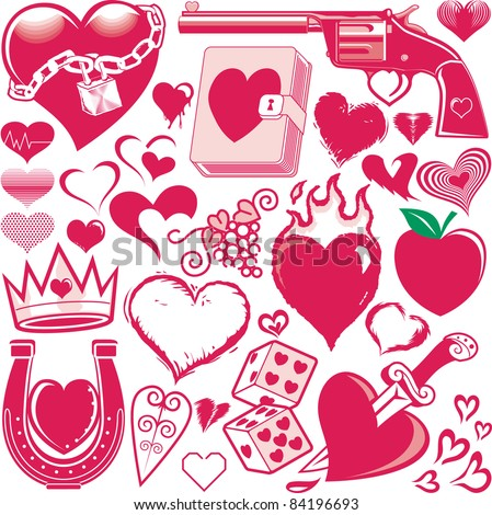 Heart Collection - stock vector