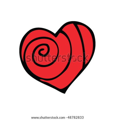 heart drawing - stock vector