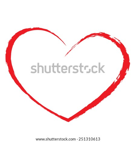 heart drawing love valentine - stock vector