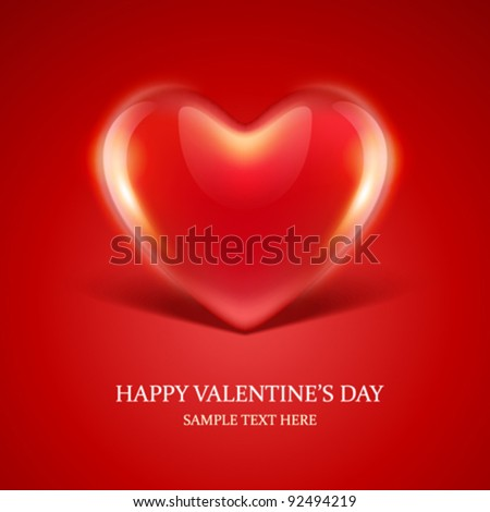 Heart gift present Valentine's day vector background eps 10 - stock vector