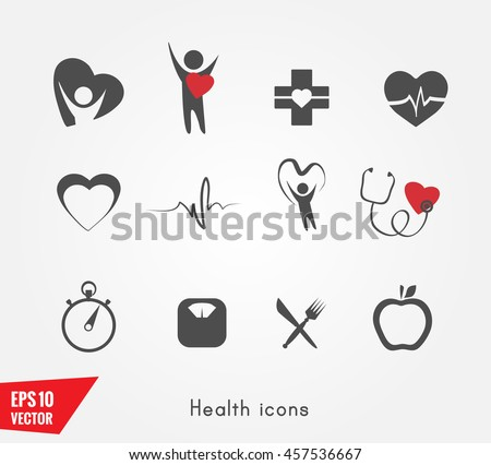 Heart health icon - stock vector