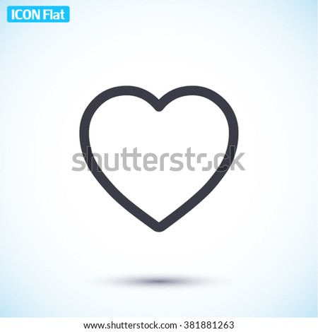 Heart Icon, Heart icon flat, Heart icon picture, Heart icon vector, Heart icon EPS10, Heart icon graphic, Heart icon object, Heart icon JPEG, Heart icon picture, Heart icon image, Heart icon drawing, - stock vector