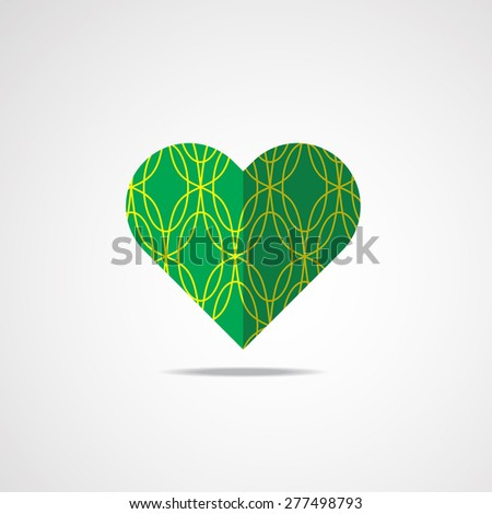 heart icon in retro style can be used for fashion textile, cloth, scrap booking, web page and background. Vector EPS 10. - stock vector