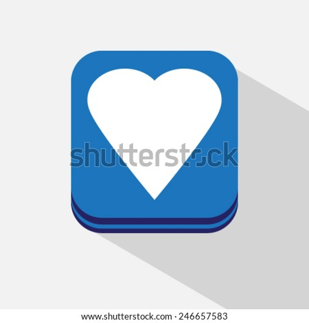 heart icon love sign - stock vector