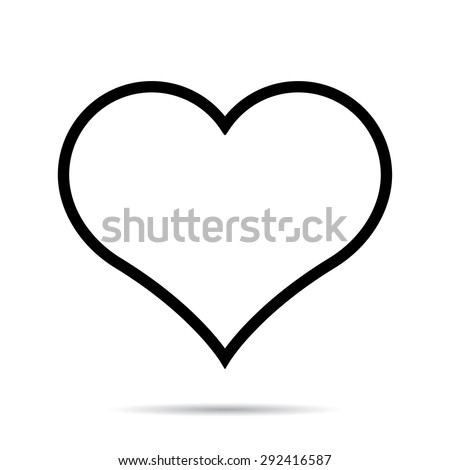 Heart icon. One of a set of linear web icons - stock vector