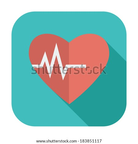 Heart icon. Single color flat icon. Vector illustration. - stock vector