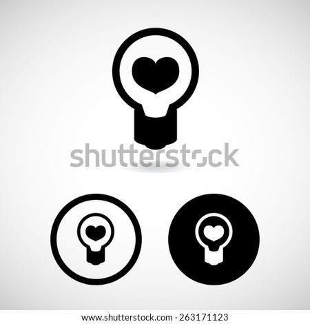 heart idea icon great for any use. Vector EPS10. - stock vector