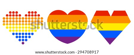Heart LGBT symbof for gay pride - stock vector