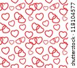 Heart love seamless pattern background. Vector illustration - stock vector