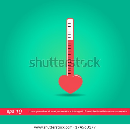 heart mercury vector icon - stock vector