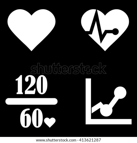 Heart Rate Icons - stock vector