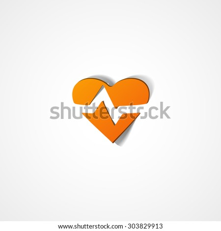 Heart Rate web icon on white background - stock vector