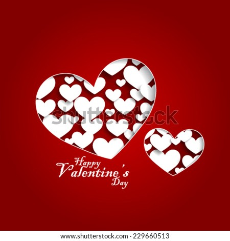Heart Shapes with Contents for Valentines Day Background - stock vector